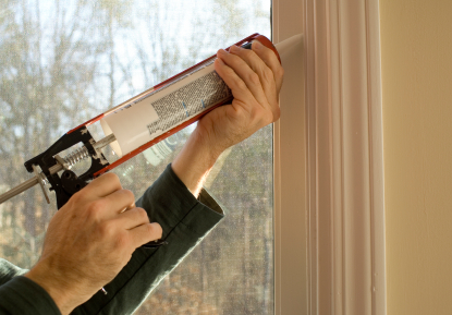 Caulking window