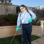 Pest Control Technician Spraying